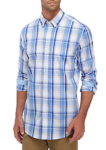Saddlebred® Long Sleeve Plaid Button Down Shirt