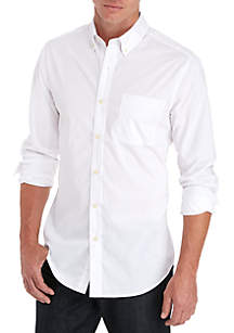 Long Sleeve Solid Button-Down Shirt