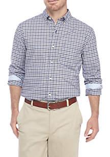 Saddlebred® Long Sleeve Comfort Flex Stretch Tailored Fit Traveler Wrinkle Free CVC Shirt