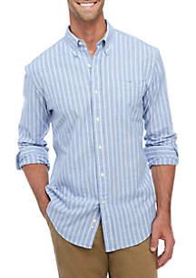 Long Sleeve Oxford Plaid Button Down Shirt