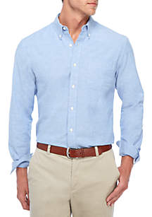 Saddlebred® Long Sleeve Solid Oxford Button Down Shirt