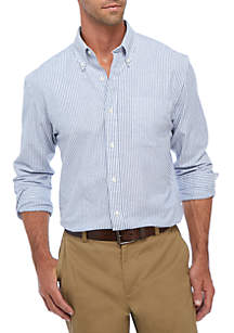 Saddlebred® Long Sleeve Striped Oxford Button Down