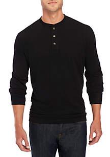 Long Sleeve Jersey Henley Top