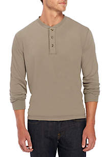 Long Sleeve Jersey Henley Top