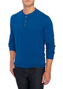 Saddlebred® Long Sleeve Jersey Henley Top