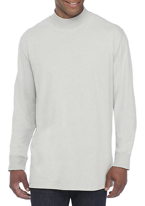 Long Sleeve Jersey Mock Neck Pullover