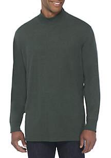 Saddlebred® Long Sleeve Jersey Mock Neck Pullover