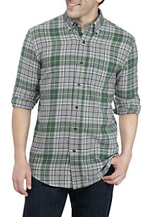 Long Sleeve Patterned Flannel Shirt