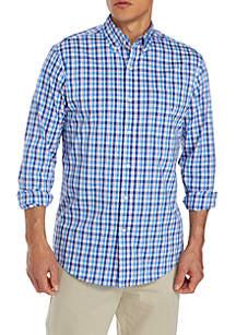 Long Sleeve Wrinkle Free Comfort Flex Stretch Classic Fit Shirt