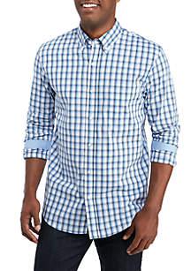 Long Sleeve Traveler Wrinkle Free Comfort Flex Stretch Classic Fit Shirt