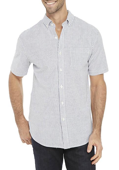 Striped Short Sleeve Comfort Flex Shirt