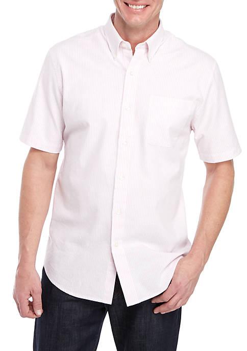 Striped Short Sleeve Comfort Flex Shirt