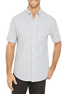 Saddlebred® Printed Short Sleeve Comfort Flex Shirt