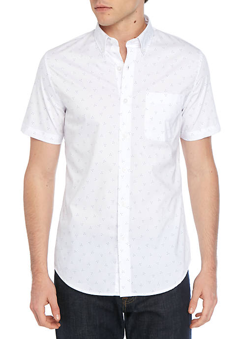 Short Sleeve Easy Care Tailored Fit Shirt