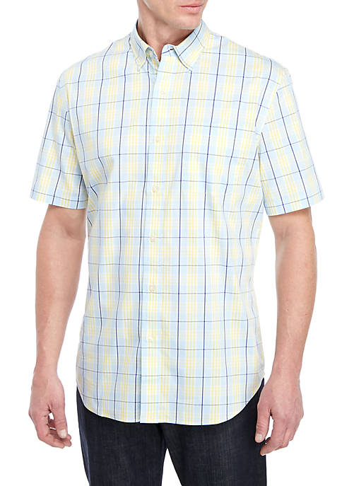 Short Sleeve Wrinkle Free Tailored Fit Shirt