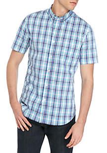 Saddlebred® Short Sleeve Wrinkle Free Tailored Fit Shirt