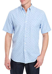Saddlebred® Short Sleeve Comfort Flex Stretch Tailored Fit Oxford Shirt