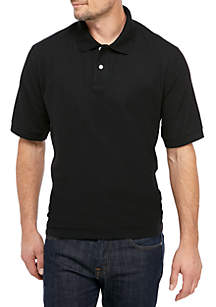 Saddlebred® Short Sleeve Pique Basic Polo Shirt