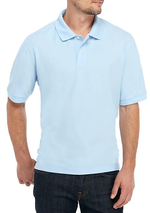 Short Sleeve Pique Basic Polo Shirt