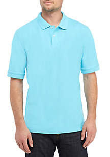 Saddlebred® Short Sleeve Pique Flash Polo Shirt