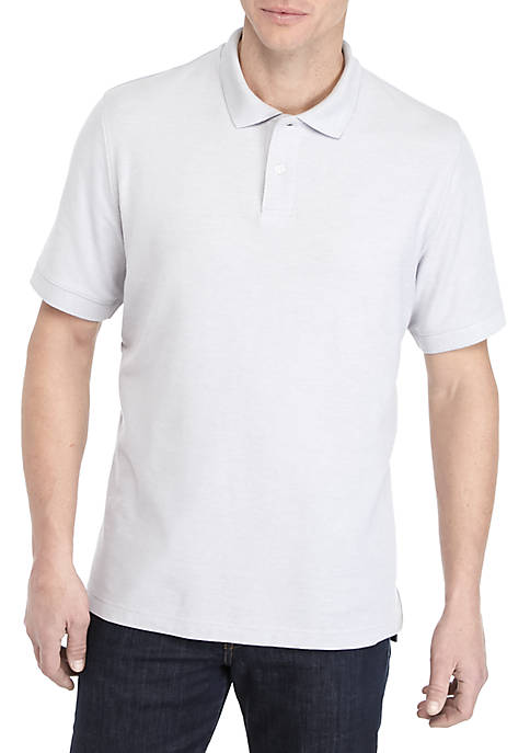 Tailored Fit Short Sleeve Solid Pique Polo Shirt