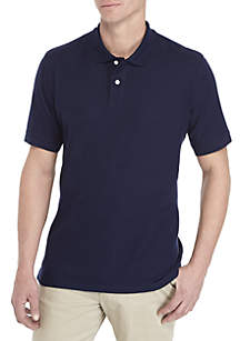 Saddlebred® Tailored Fit Short Sleeve Solid Pique Polo Shirt