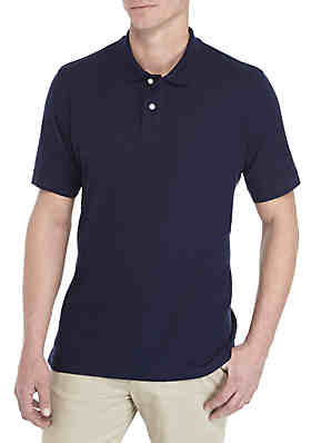 d9e0dc181 Saddlebred® Tailored Fit Short Sleeve Solid Pique Polo Shirt ...