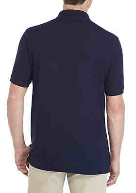 a45bd64e ... Saddlebred® Tailored Fit Short Sleeve Solid Pique Polo Shirt