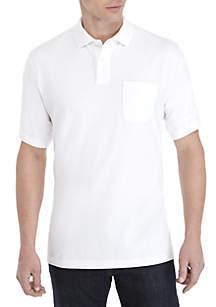 Saddlebred® Short Sleeve Comfort Flex Stretch Jersey Polo Shirt