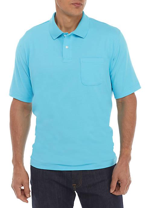 Short Sleeve Comfort Flex Stretch Jersey Polo Shirt