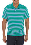 Short Sleeve Striped Tailored Fit Jersey Polo Shirt