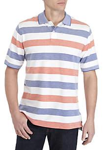 Saddlebred® Short Sleeve Oxford Pique Polo Shirt