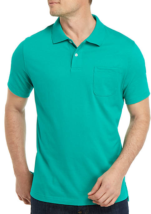 Saddlebred Short Sleeve Tailored Fit Jersey Polo Shirt