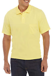 Saddlebred® Short Sleeve Tailored Fit Jersey Polo Shirt