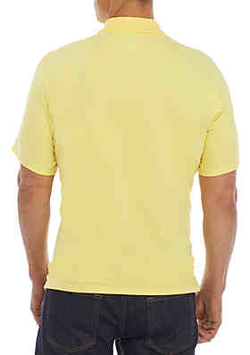 364d361ae88d ... Saddlebred® Short Sleeve Tailored Fit Jersey Polo Shirt. Deco Yellow