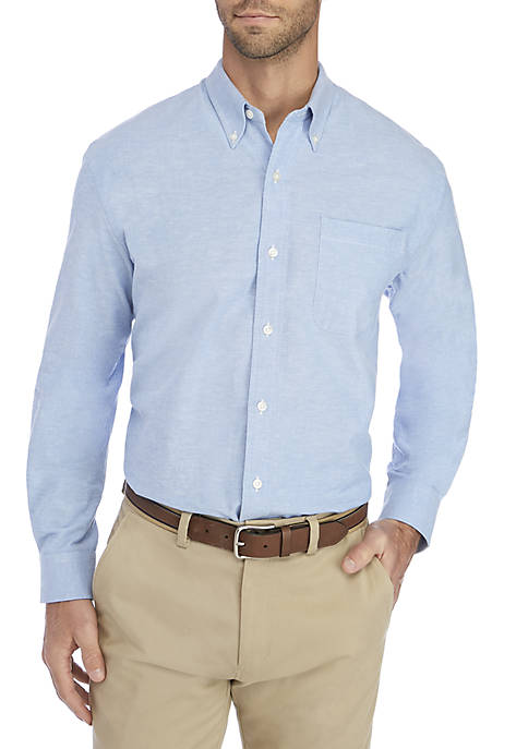 Saddlebred® Long Sleeve Comfort Flex Stretch Oxford Shirt