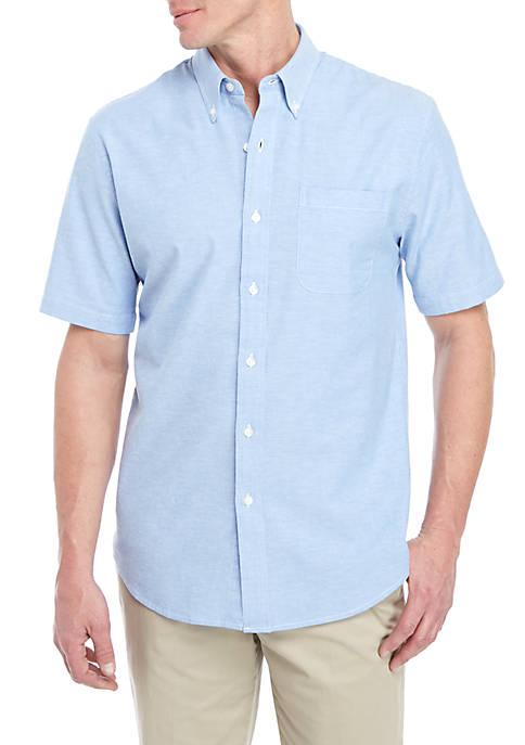 Short Sleeve Comfort Flex Stretch Tailored Fit Oxford Shirt