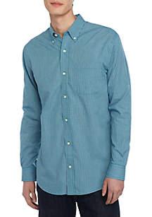 Saddlebred® Long Sleeve Printed Button Down Shirt