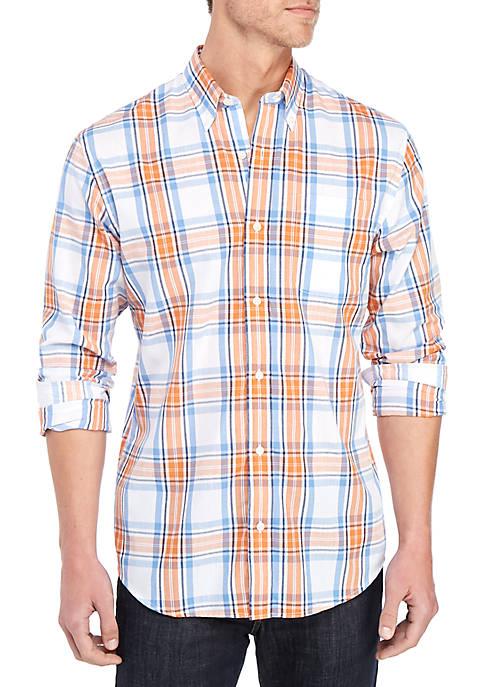 Long Sleeve Printed Button Down Shirt
