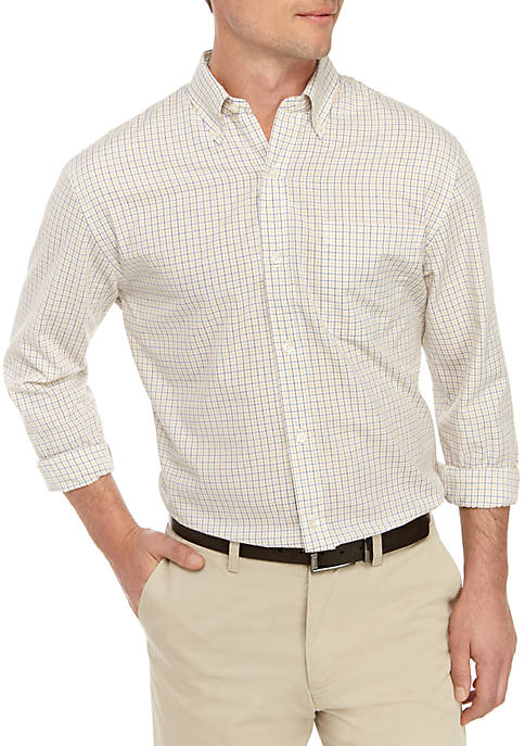 Long Sleeve Classic Fit Plaid Button Down Shirt