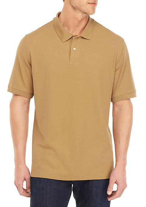 Solid Short Sleeve Pique Polo
