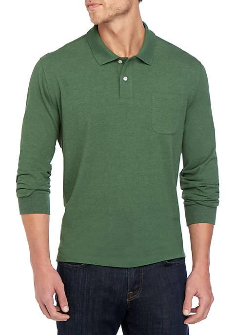 Comfort Flex Long Sleeve Jersey Polo Shirt