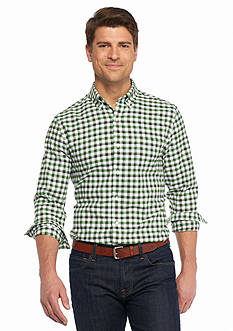 Saddlebred® 1888 Long Sleeve Tailored Gingham Oxford Shirt