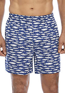 Men's Boxers with Fish Print