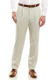 Saddlebred® Stretch Gab Flat Front Pants