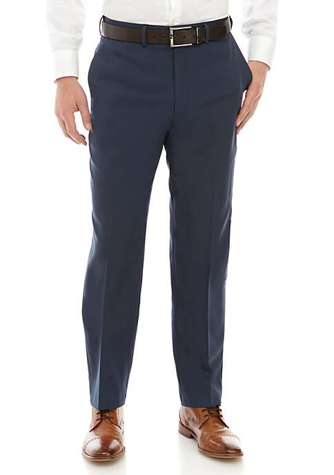 Stretch Gab Flat Front Pants