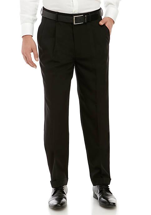 Straight Micro Pleat Pants