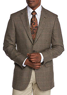 Brown Houndstooth Lambswool Sport Coat