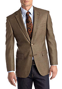 Classic Fit Brown Weave Lambswool Sport Coat