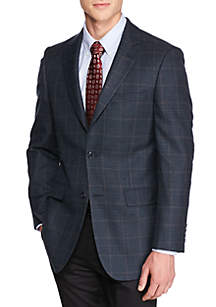 Classic Fit Blue Multi Houndstooth Lambswool Sport Coat